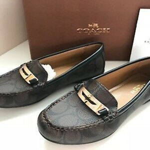 Genuine COACH Olympia Pebble Grain Leather Loafer